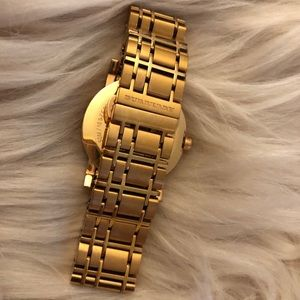 Burberry Accessories - Rose Gold Tone Burberry Watch